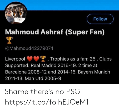 shame: Shame there's no PSG  https://t.co/folhEJOeM1
