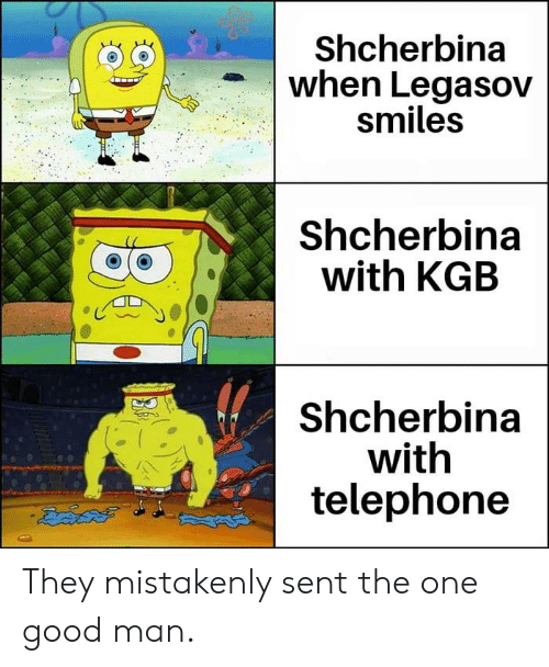 Dank, Good, and Smiles: Shcherbina  when Legasov  smiles  Shcherbina  with KGB  Shcherbina  with  telephone They mistakenly sent the one good man.