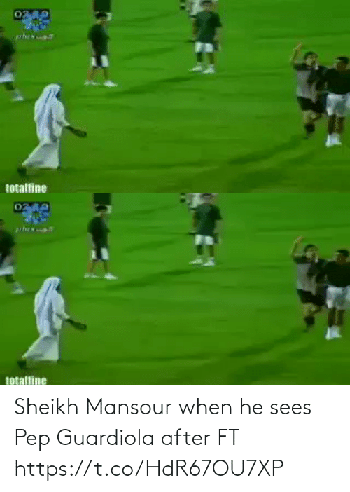 Sees: Sheikh Mansour when he sees Pep Guardiola after FT  https://t.co/HdR67OU7XP