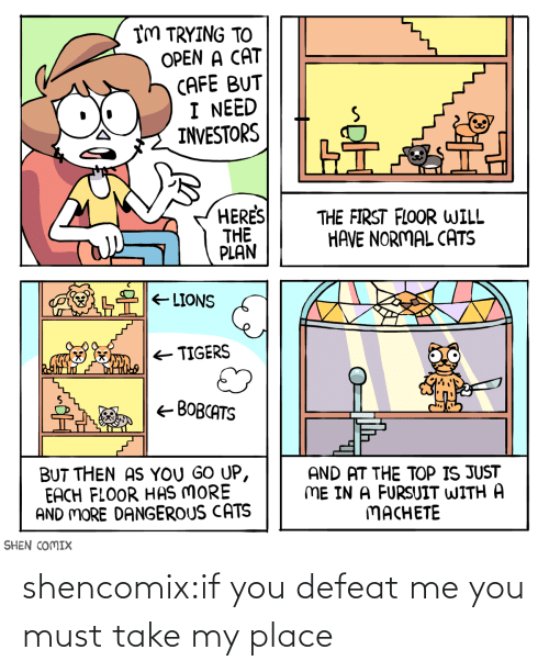 Must: shencomix:if you defeat me you must take my place
