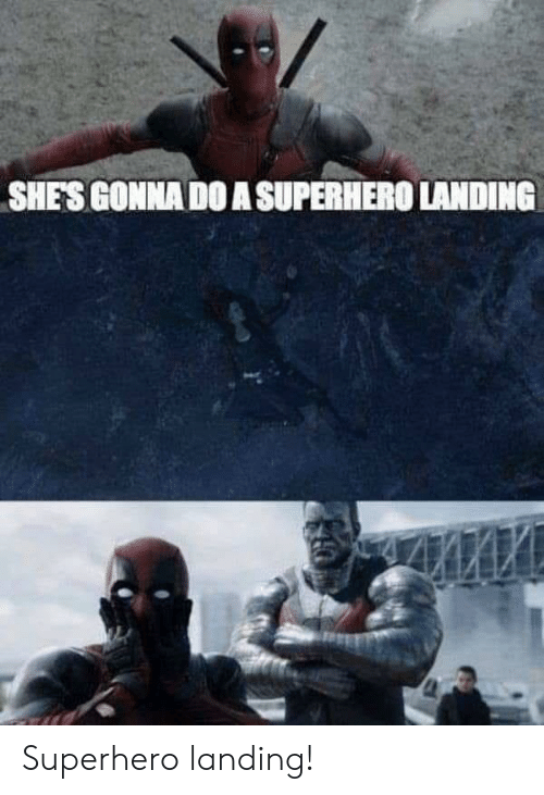 landing: SHES GONNA DO A SUPERHERO LANDING Superhero landing!