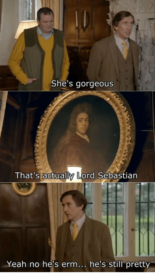 Yeah, Gorgeous, and Classical Art: She's gorgeous  That's actually Lord Sebastian  Yeah no hes erm. he's still pretty