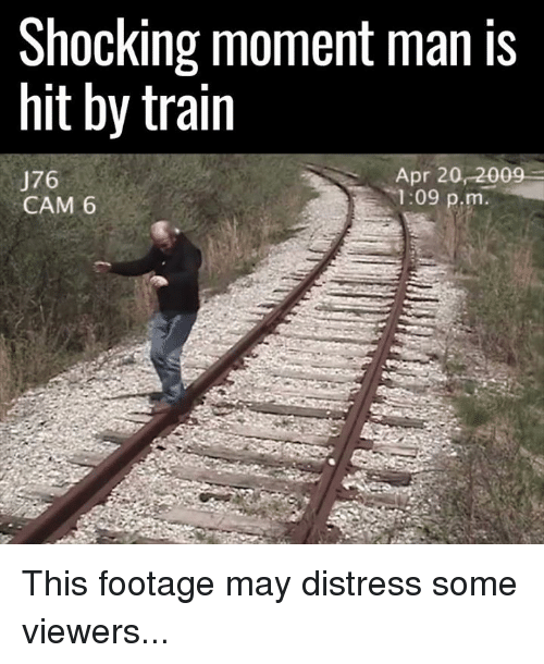 hit by train