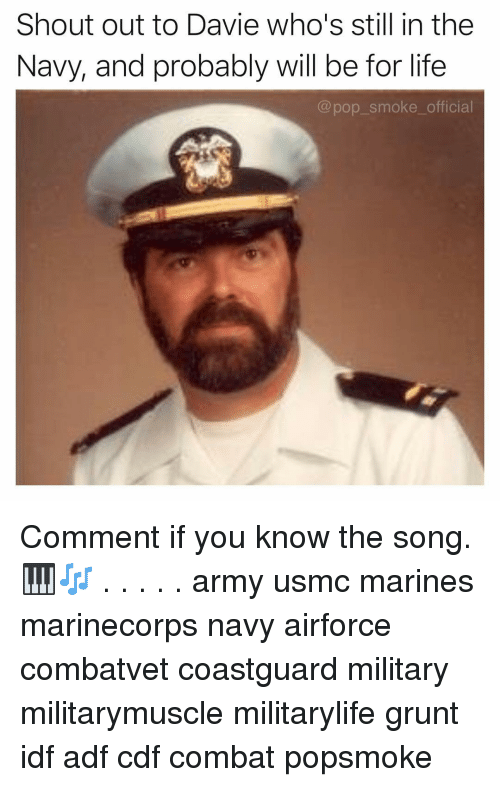 grunt: Shout out to Davie who's still in the  Navy, and probably will be for life  @pop_smoke_official Comment if you know the song. 🎹🎶 . . . . . army usmc marines marinecorps navy airforce combatvet coastguard military militarymuscle militarylife grunt idf adf cdf combat popsmoke