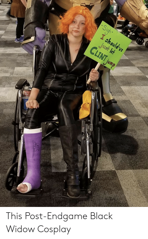 Black Widow: Sight  I should ve  just let  CLINT jump This Post-Endgame Black Widow Cosplay