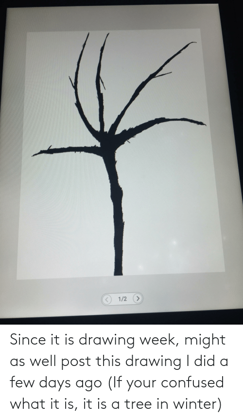 a-few-days: Since it is drawing week, might as well post this drawing I did a few days ago (If your confused what it is, it is a tree in winter)