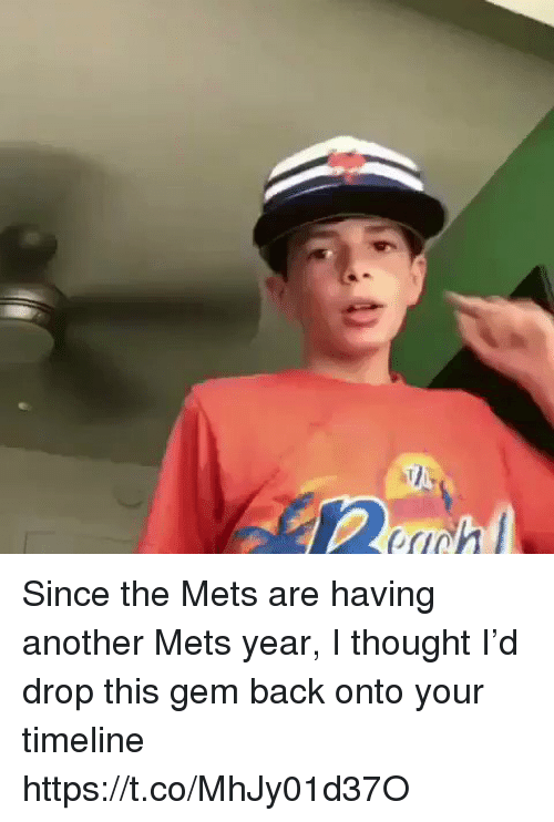 Memes, Mets, and Thought: Since the Mets are having another Mets year, I thought I'd drop this gem back onto your timeline https://t.co/MhJy01d37O
