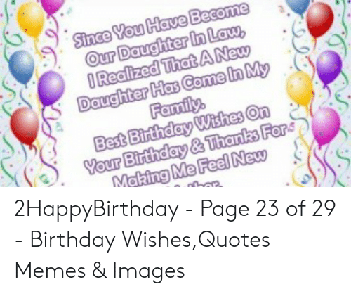 🇲🇽 25 Best Memes About Daughter in Law Birthday Meme
