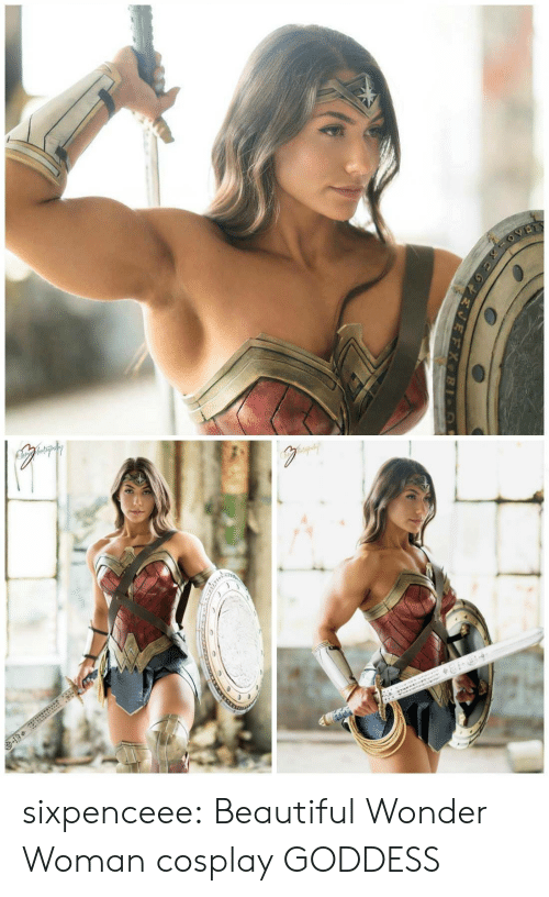 Beautiful, Tumblr, and Blog: sixpenceee:  Beautiful Wonder Woman cosplay  GODDESS