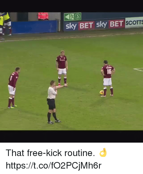 Soccer, Free, and Bet: sky BET sky  S  BET SCOTTS  16 That free-kick routine. 👌 https://t.co/fO2PCjMh6r