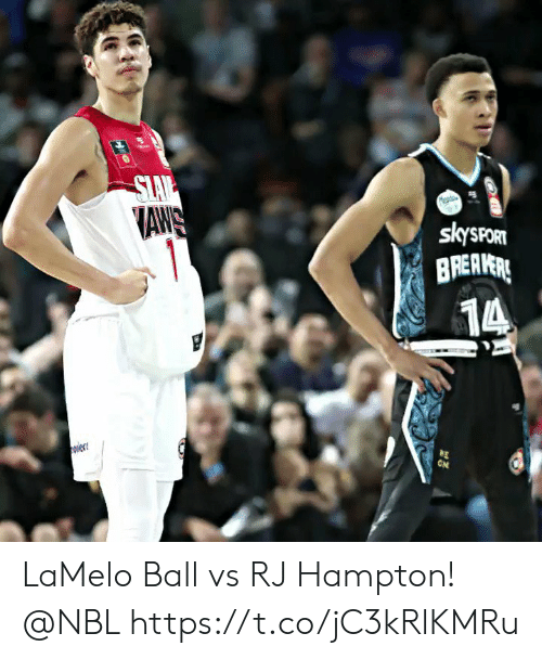 aws: SLAV  AWS  1  skysPORT  BREAVERE  14  ON  w LaMelo Ball vs RJ Hampton! @NBL https://t.co/jC3kRlKMRu