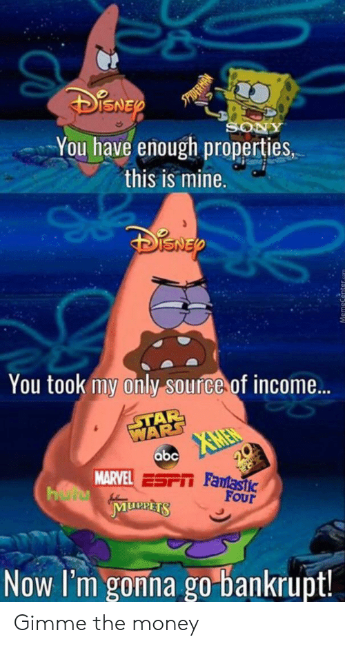 Abc, Money, and Star Wars: SO  You have enough properties,  this is mine.  You took my only source of income...  STAR  WARS  XMEN  abc  20  MARVEL ESPIT Famastic  HerMunnts  FOur  Now I'm gonna go bankrupt! Gimme the money