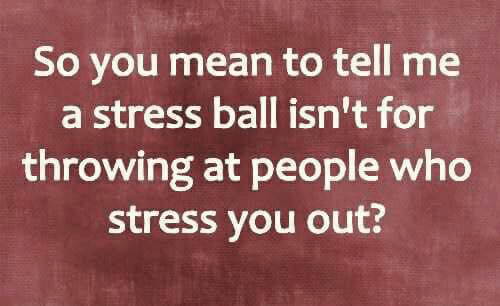 Memes, Mean, and 🤖: So you mean to tell me  a stress ball isn't for  throwing at people who  stress you out?