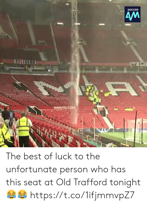 Soccer, Best, and Old: SOCCER  MANUTD.COM The best of luck to the unfortunate person who has this seat at Old Trafford tonight 😂😂 https://t.co/1ifjmmvpZ7