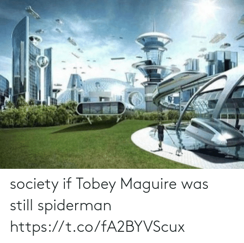 Maguire: society if Tobey Maguire was still spiderman https://t.co/fA2BYVScux