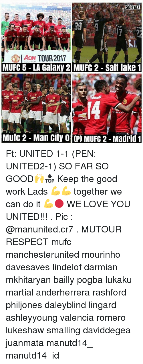 Love, Memes, and Respect: SOFIYA7  399  AON TOUR 2017  MUFC 5 LA Galaxy 2 MUFC 2 - Salt lake 1  Mutc 2- Man city O P) MUFG 2-Madrid Ft: UNITED 1-1 (PEN: UNITED2-1) SO FAR SO GOOD🙌🔝 Keep the good work Lads 💪💪 together we can do it 💪🔴 WE LOVE YOU UNITED!!! . Pic : @manunited.cr7 . MUTOUR RESPECT mufc manchesterunited mourinho davesaves lindelof darmian mkhitaryan bailly pogba lukaku martial anderherrera rashford philjones daleyblind lingard ashleyyoung valencia romero lukeshaw smalling daviddegea juanmata manutd14_ manutd14_id