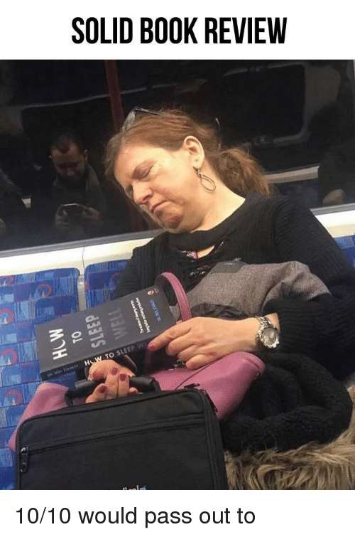 10 10 Would: SOLID BOOK REVIEW  TO SLEEP w 10/10 would pass out to