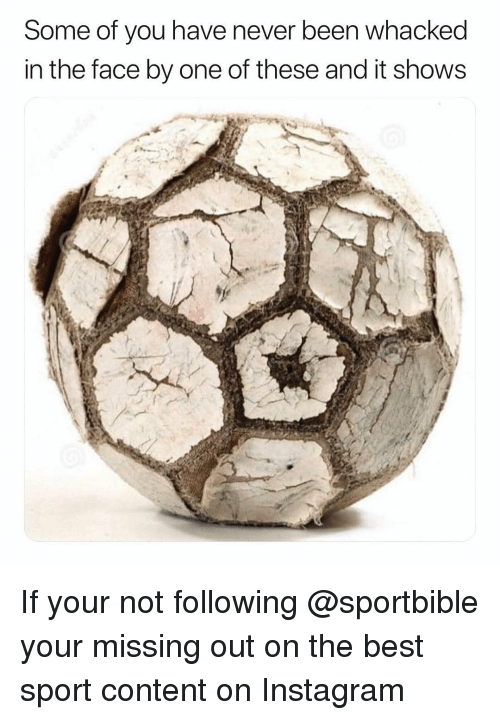 Instagram, Memes, and Best: Some of you have never been whacked  in the face by one of these and it show:s If your not following @sportbible your missing out on the best sport content on Instagram