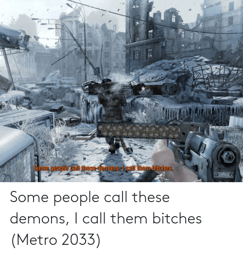 metro 2033: Some people call these demons, I call them bitches (Metro 2033)