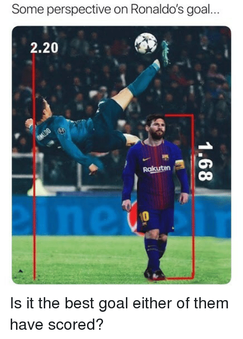 Soccer, Sports, and Best: Some perspective on Ronaldo's goal...  2.20  Rakuten  0 Is it the best goal either of them have scored?