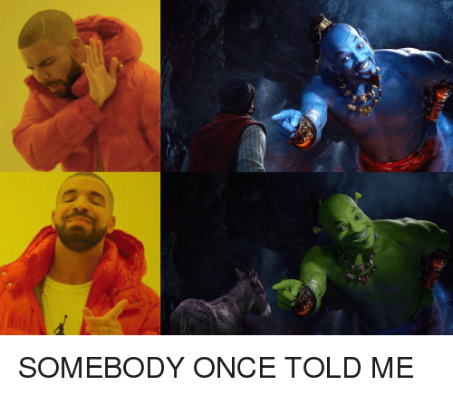 Once, Somebody Once Told Me, and Somebody: SOMEBODY ONCE TOLD ME