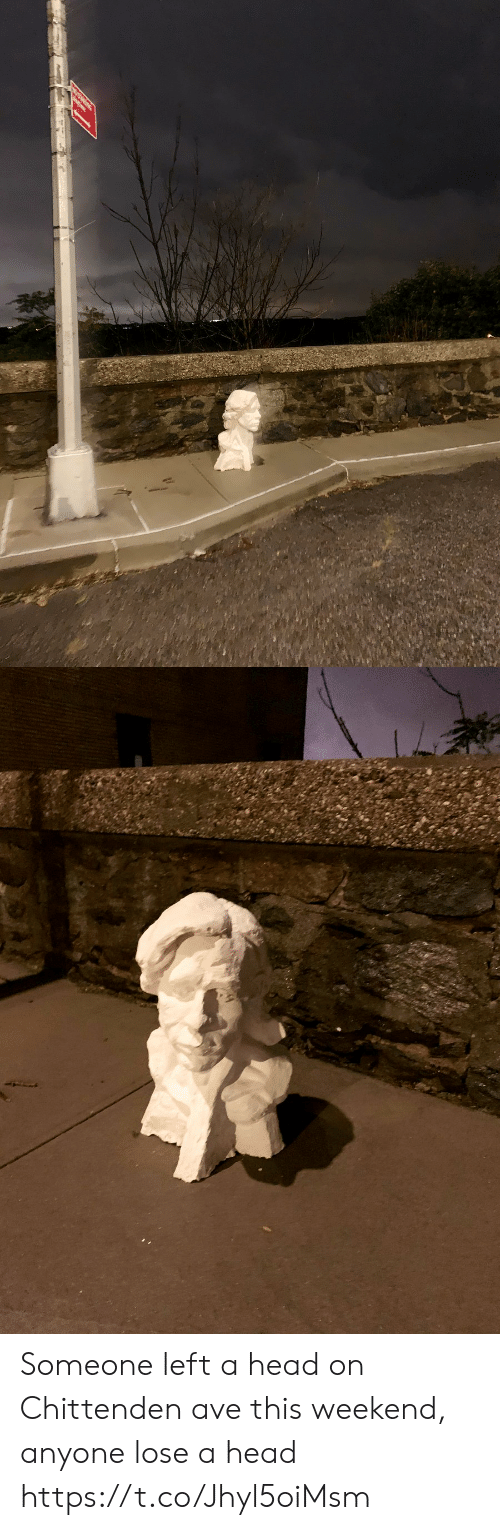 head on: Someone left a head on Chittenden ave this weekend, anyone lose a head https://t.co/Jhyl5oiMsm
