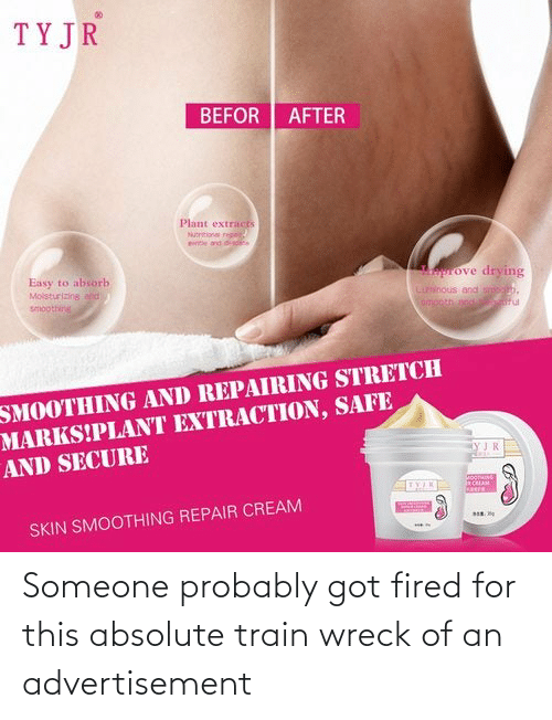 wreck: Someone probably got fired for this absolute train wreck of an advertisement