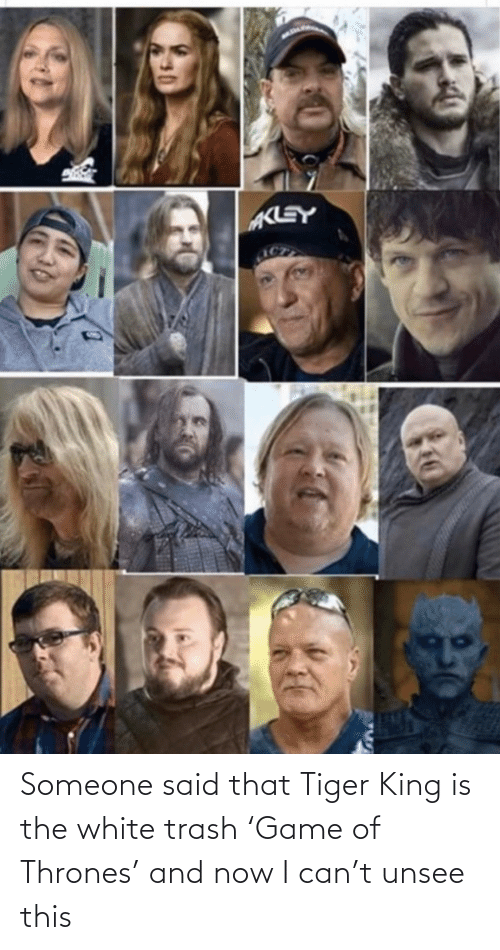 And Now: Someone said that Tiger King is the white trash 'Game of Thrones' and now I can't unsee this