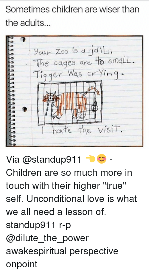 """Tiggered: Sometimes children are wiser than  the adults.  your zoo is a jailu,  The cages are  to  emaLL  E Tigger was crying  hate the visit. Via @standup911 👈😊 - Children are so much more in touch with their higher """"true"""" self. Unconditional love is what we all need a lesson of. standup911 r-p @dilute_the_power awakespiritual perspective onpoint"""