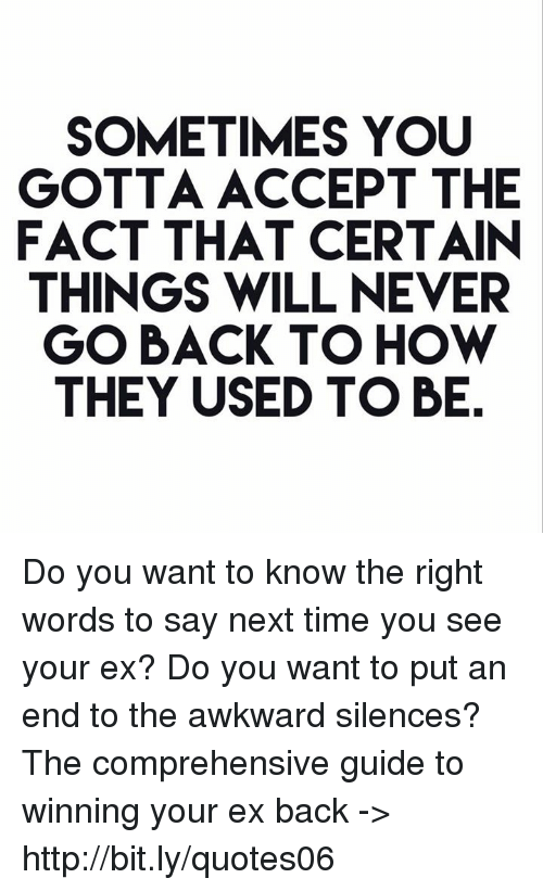 what to say to an ex that you want back