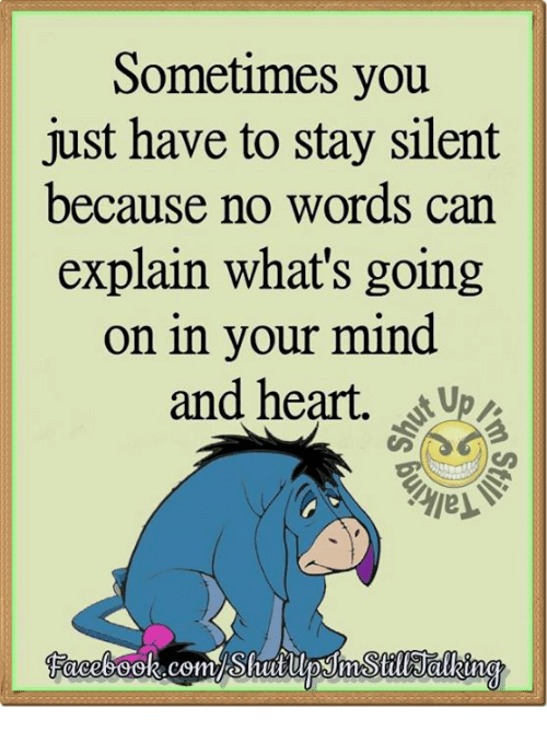 Dank, Heart, And Hearts: Sometimes You Just Have To Stay Silent Because No