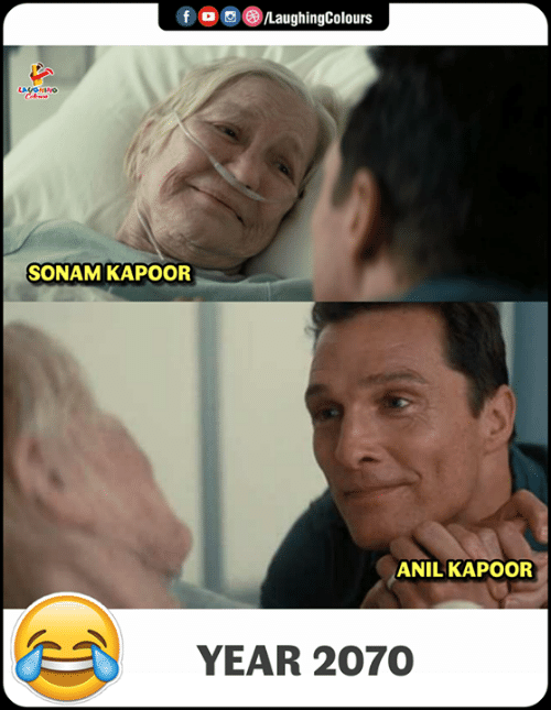 Indianpeoplefacebook, Sonam Kapoor, and Anil Kapoor: SONAM KAPOOR  ANIL KAPOOR  YEAR 2070