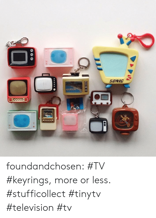 Tumblr, Blog, and Http: SONIC foundandchosen: #TV #keyrings, more or less. #stufficollect #tinytv #television #tv