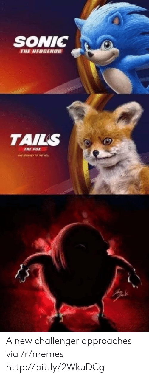 Challenger: SONIC0  THE HEDGEH06  TAILS  TNE FOX A new challenger approaches via /r/memes http://bit.ly/2WkuDCg