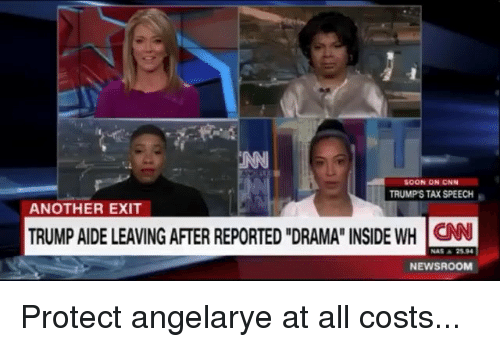 """cnn.com, Memes, and Nas: SOON ON CNN  TRUMP'S TAX SPEECH  ANOTHER EXIT  TRUMP AIDE LEAVING AFTER REPORTED """"DRAMA"""" INSIDE WH CN  NAS ▲ 2594  NEWSROOM Protect angelarye at all costs..."""