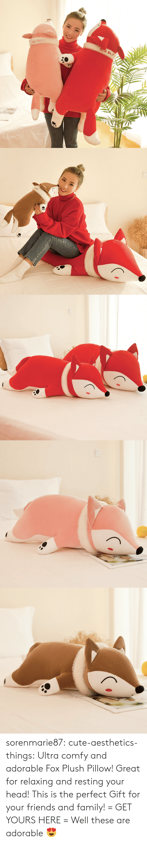 comfy: sorenmarie87: cute-aesthetics-things:  Ultra comfy and adorable Fox Plush Pillow! Great for relaxing and resting your head! This is the perfect Gift for your friends and family! = GET YOURS HERE =   Well these are adorable 😍