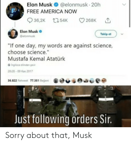musk: Sorry about that, Musk