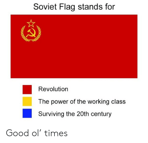 surviving: Soviet Flag stands for  Revolution  The power of the working class  Surviving the 20th century Good ol' times