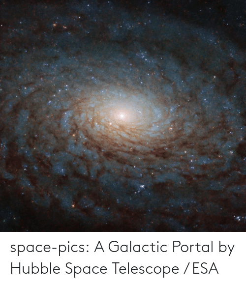 pics: space-pics:  A Galactic Portal by Hubble Space Telescope / ESA