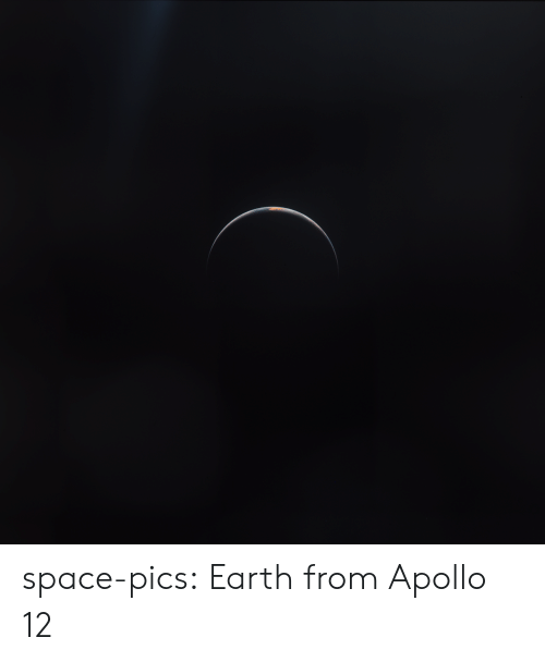 Apollo: space-pics:  Earth from Apollo 12