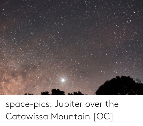 mountain: space-pics:  Jupiter over the Catawissa Mountain [OC]