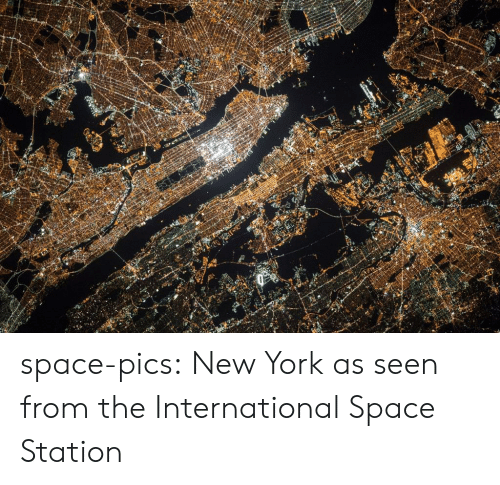 the international: space-pics:  New York as seen from the International Space Station