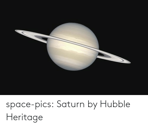 pics: space-pics:  Saturn by Hubble Heritage
