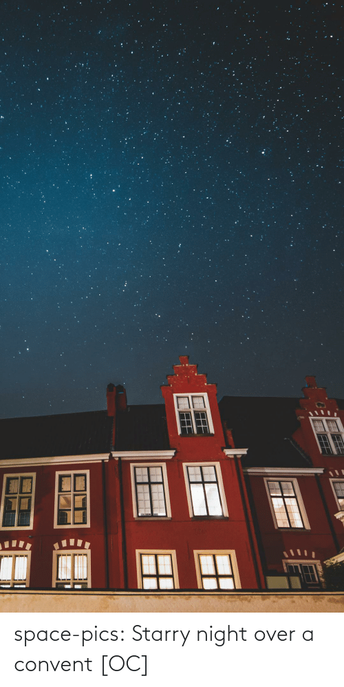 pics: space-pics:  Starry night over a convent [OC]