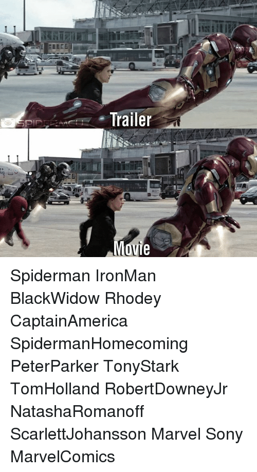Memes, Sony, and Marvel: Spiderman IronMan BlackWidow Rhodey CaptainAmerica SpidermanHomecoming PeterParker TonyStark TomHolland RobertDowneyJr NatashaRomanoff ScarlettJohansson Marvel Sony MarvelComics