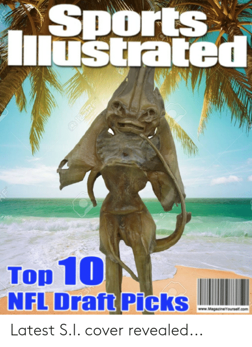 Nfl, NFL Draft, and Sports: Sports  Mustated  Top 10  NFL Draft Picks  www.Magazineyourself.com Latest S.I. cover revealed...