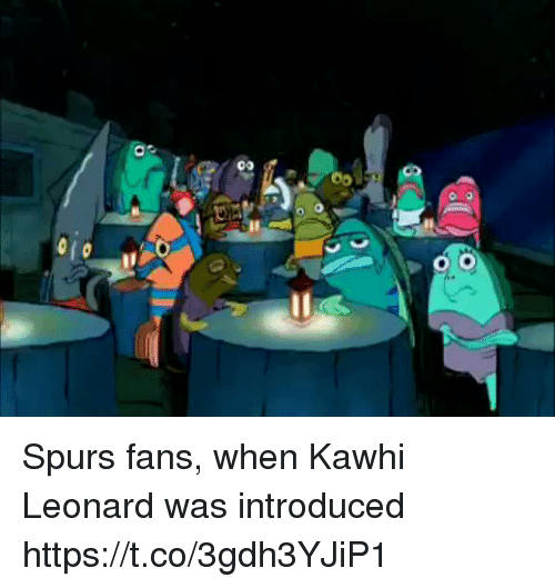 Leonard: Spurs fans, when Kawhi Leonard was introduced https://t.co/3gdh3YJiP1