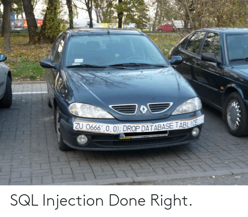 right: SQL Injection Done Right.