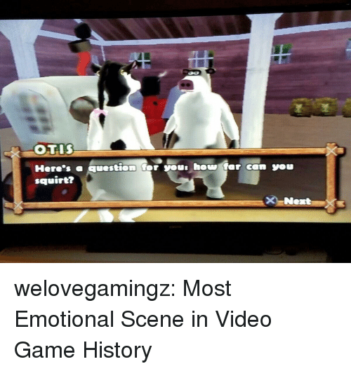 squirt: squirt? welovegamingz:  Most Emotional Scene in Video Game History