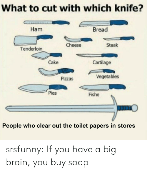 soap: srsfunny:  If you have a big brain, you buy soap